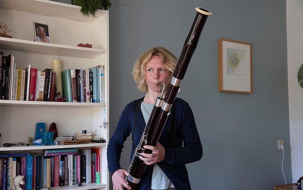 Fagottiste Suzanne van Berkum speelt het liefst in het lyrische register van de fagot. beeld RD, Anton Dommerholt