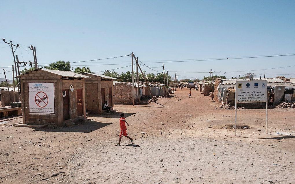 Een vluchtelingenkamp in Ethiopië. beeld AFP, EDUARDO SOTERAS