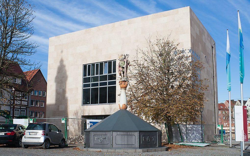 De (nieuwe) synagoge in Ulm, die in 2012 in gebruik werd genomen. beeld Wikimedia, Andreas F. Borchert