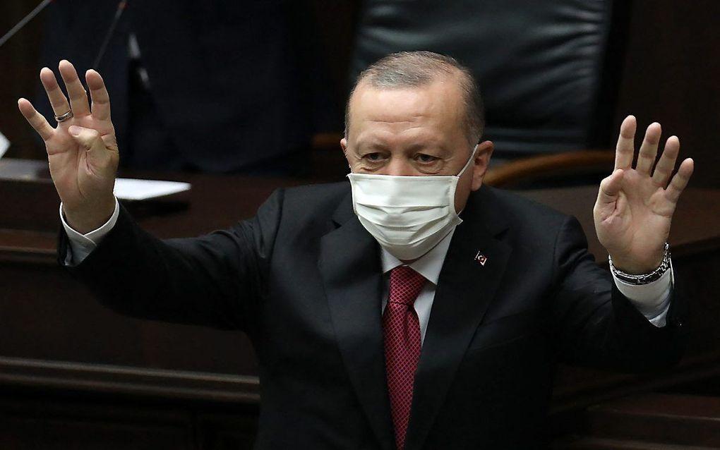 Biden kondigde voordat hij tot president werd gekozen aan een steviger koers te zullen gaan varen tegen de Turkse president Erdogan. beeld AFP