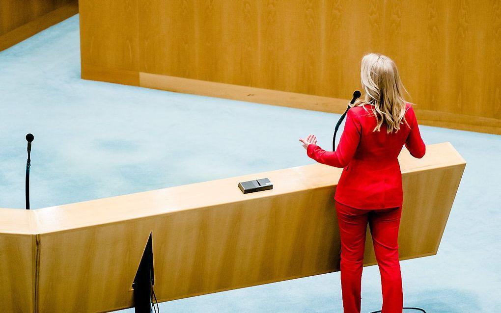 SP-leider Lilian Marijnissen in de Tweede Kamer. beeld ANP BART MAAT