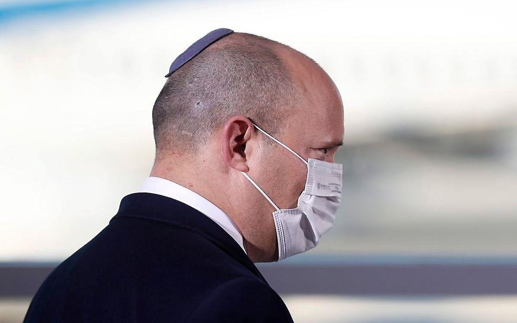 De Israëlische premier Naftali Bennett.  beeld EPA, Atef Safadi