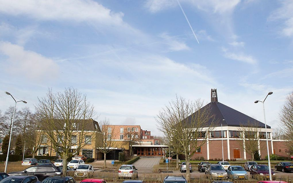 Het kerkgebouw van de oud gereformeerde gemeente in Nederland in Krimpen aan den IJssel. beeld RD, Anton Dommerholt