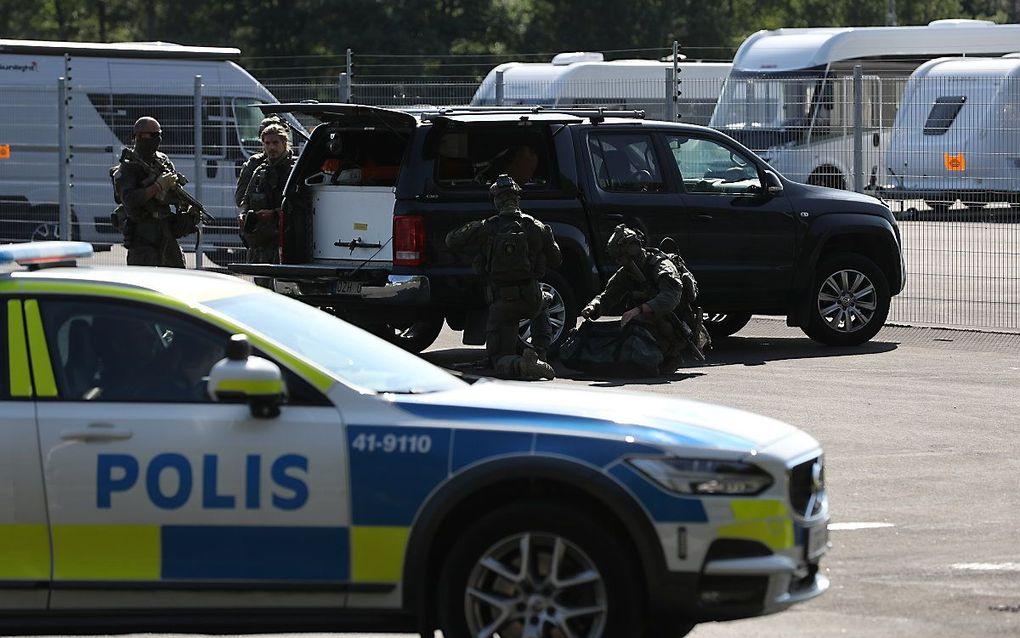 De gijzeling was in een gevangenis met het hoogste bewakingsniveau, ruim 100 kilometer ten westen van de Zweedse hoofdstad Stockholm. beeld EPA, Per Karlsson