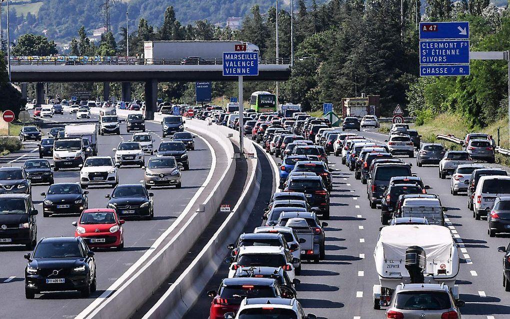 De snelweg A7 tussen Lyon en Vienne. beeld AFP, Philippe Desmazes