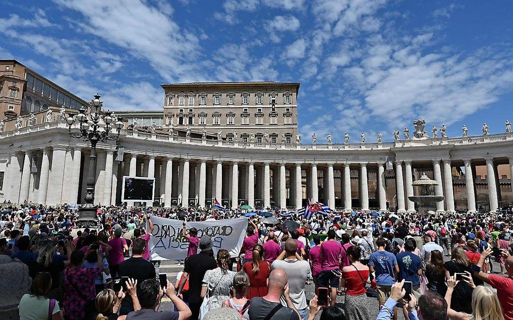 Het Sint-Pietersplein in Vaticaanstad eerder deze maand. beeld AFP, Andreas Solaro