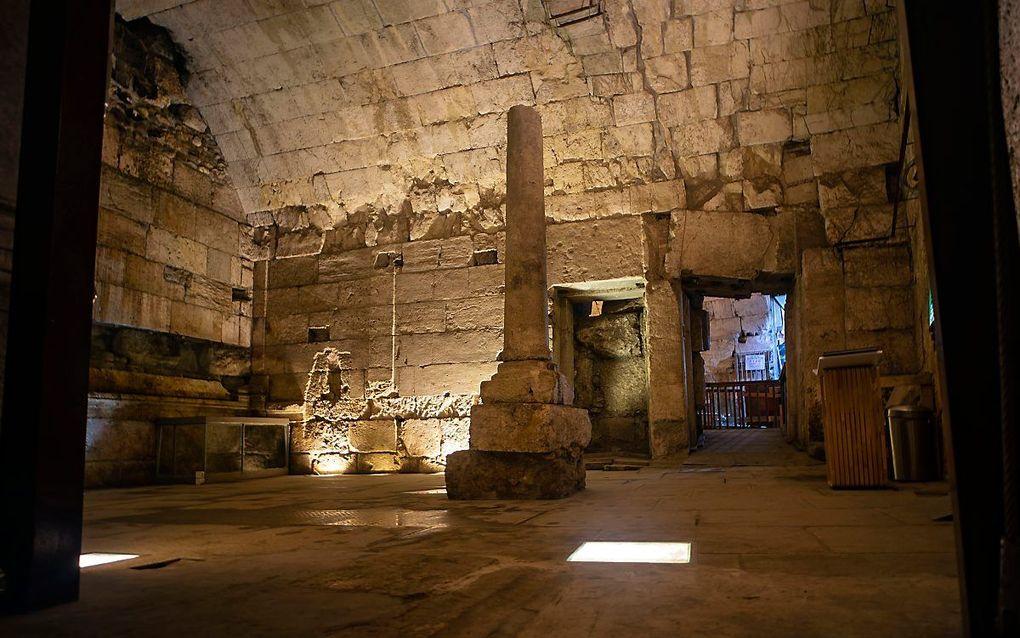 Deel van het 2000 jaar oude gebouw. beeld Yaniv Berman, de Israëlische Oudheidkundige Dienst