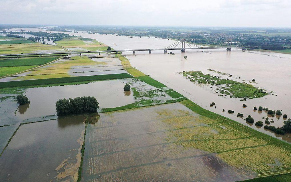 De rivier eist soms veel ruimte. Zoals hier bij Nederhemert. beeld VidiPhoto
