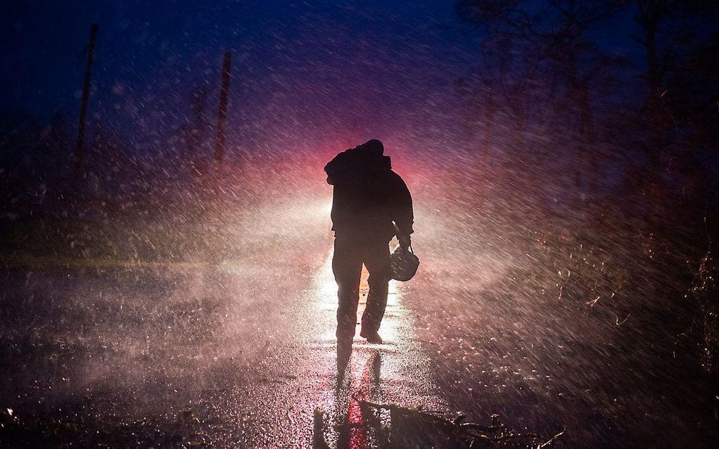Orkaan Ida in Louisiana, VS. beeld AFP, Mark Felix