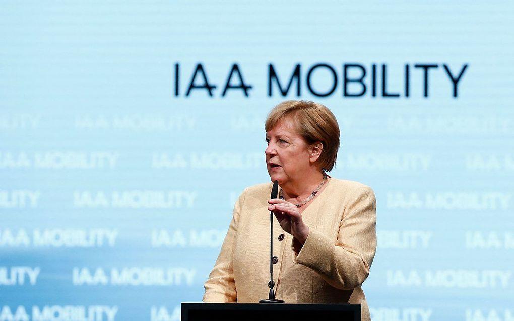 De Duitse bondskanselier Angela Merkel. beeld AFP, Michaela Rehle