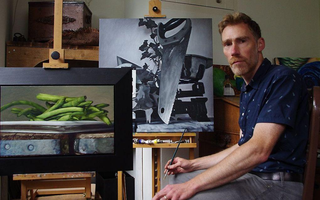 Jan Neven in zijn atelier. beeld Jan Neven