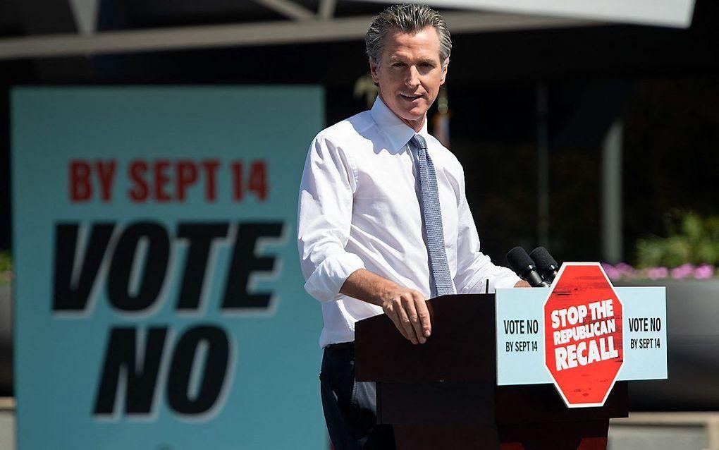 De Democratische gouverneur van Californië, Gavin Newsom. beeld AFP, Saul Loeb