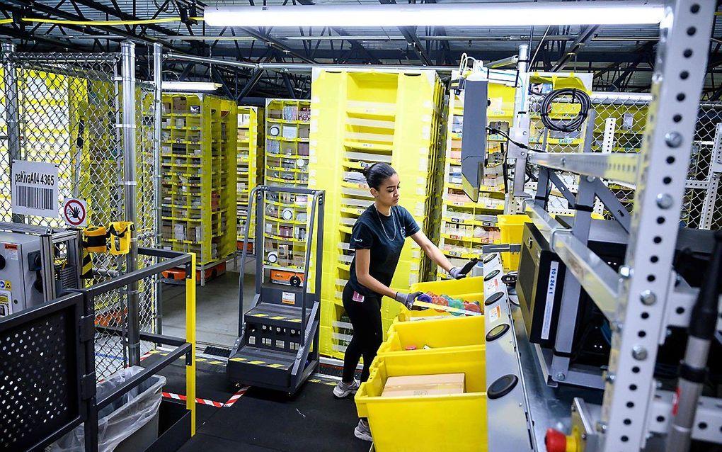 Distributiecentrum van Amazon. beeld AFP, Johannes Eisele