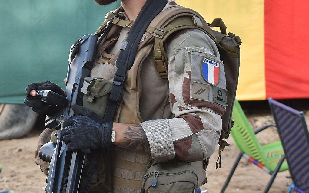 Een Franse militair in Timboektoe, Mali. beeld AFP, Maimouna MORO