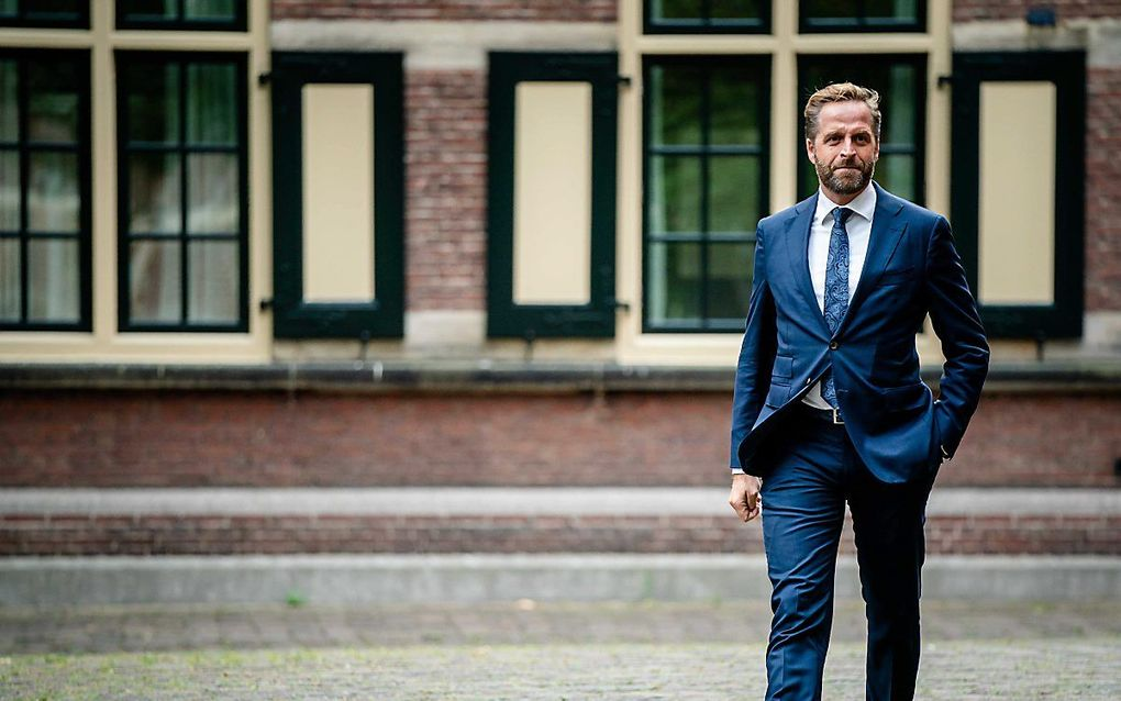 Minister De Jonge, boegbeeld van het coronabeleid.beeld ANP, Bart Maat