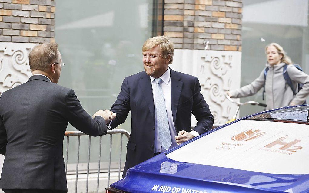 Koning Willem-Alexander arriveert in Groningen. beeld ANP, Vincent Jannink