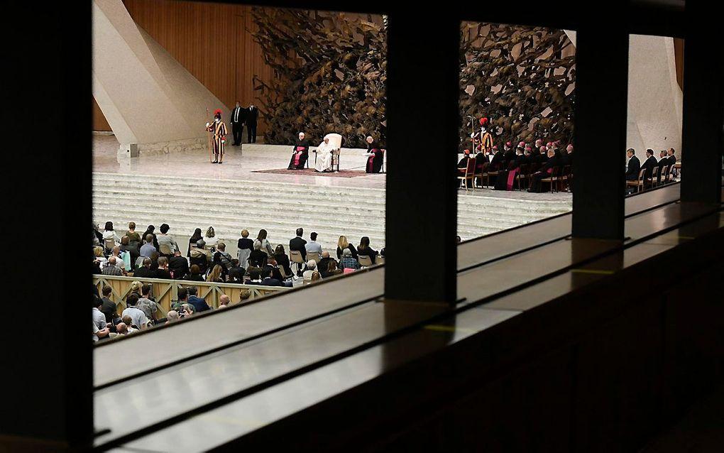 Een audiëntie in Vaticaanstad. EPA, Vatican Media