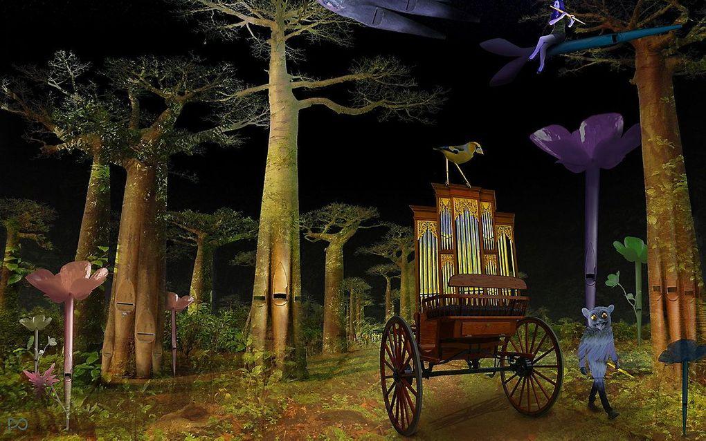 De winnende inzending van Peter Oosterhout. beeld Nationaal Orgelmuseum
