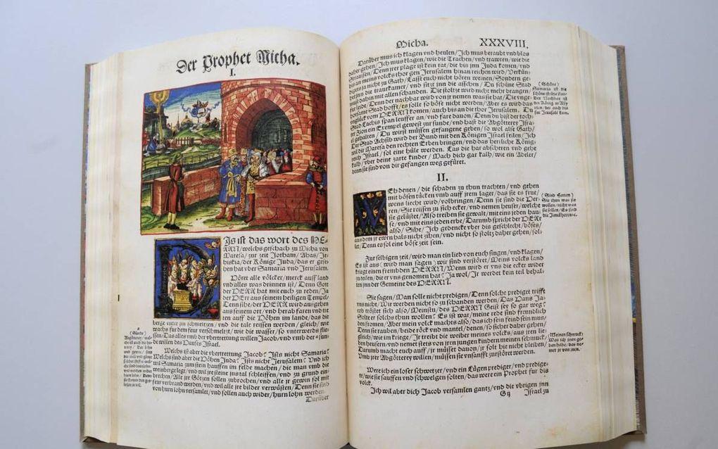 De Lutherbijbel staat sinds vorig jaar op de werelderfgoedlijst van Unesco; voor de Rooms-Katholieke Kerk was het eeuwenlang een verboden boek. beeld Friesch Dagblad