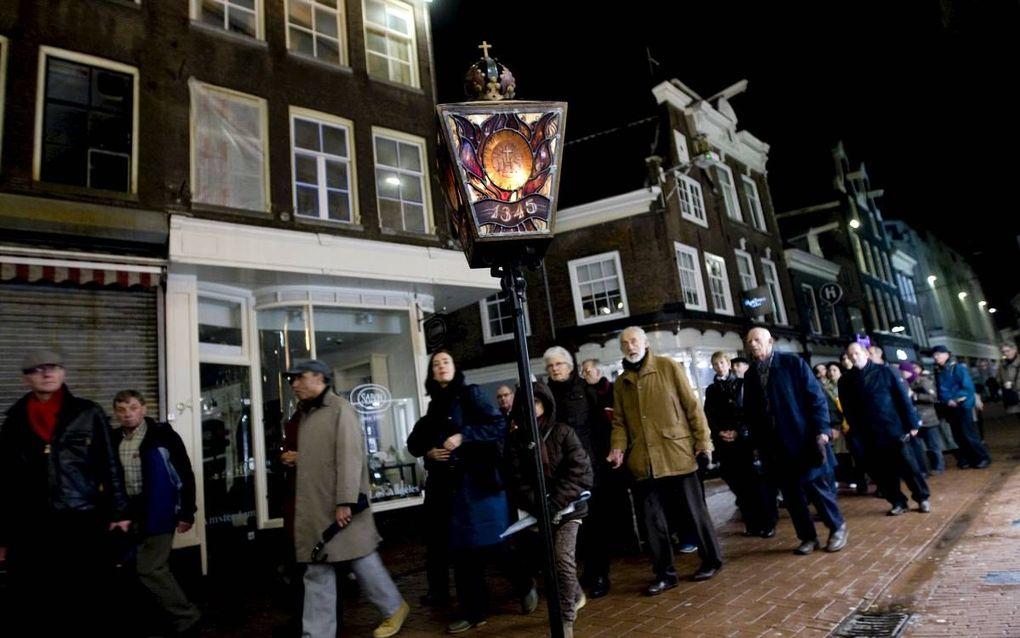 De Stille Omgang door de binnenstad van Amsterdam in 2010.beeld ANP, Evert Elzinga