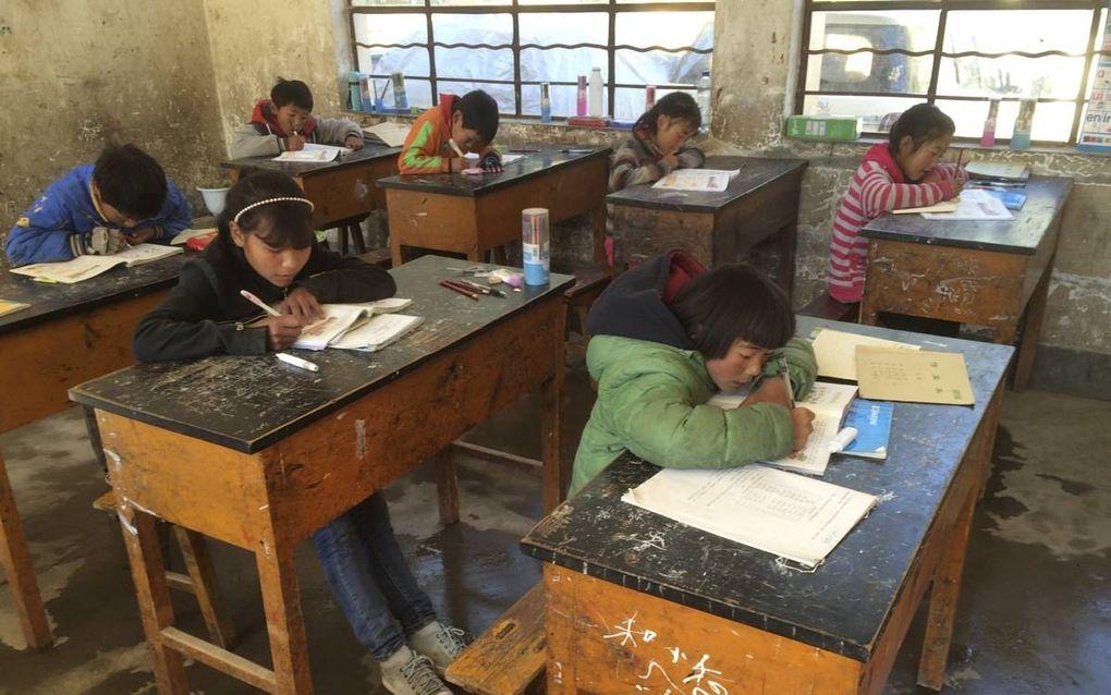 Een actie voor China is een van de activiteiten die de Werkgroep Vrijheid van Onderwijs 1917/2017 op touw heeft gezet.beeld RD