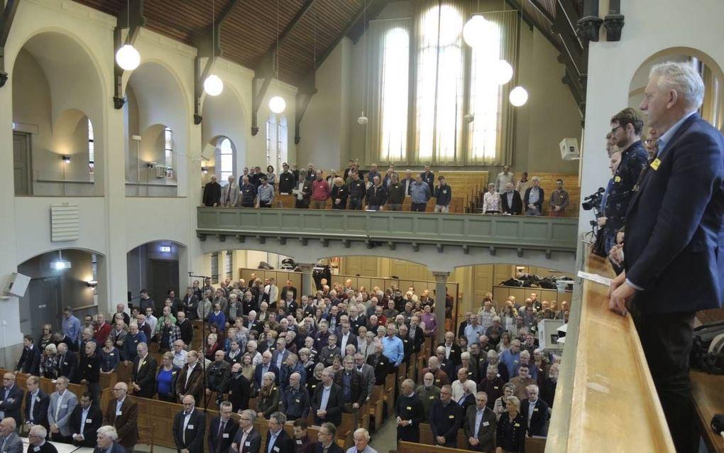 De gezamenlijke bijeenkomst van synodeleden van de GKV en NGK in Kampen op 11 november. beeld RD
