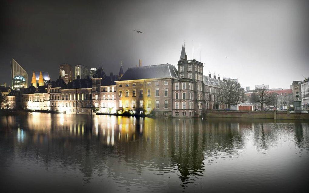 Het Binnenhof van buiten gezien, beeld RD, Henk Visscher.