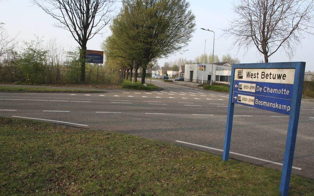 De locatie in Geldermalsen waar een Polenhotel zou moeten komen. beeld André Bijl