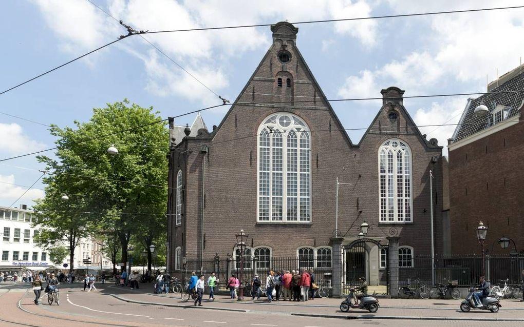 De Amsterdamse lutherse gemeente kreeg de mogelijkheid om twee publiekelijk zichtbare kerken te bouwen: de Oude Lutherse Kerk (1633) en de Nieuwe of Ronde Lutherse Kerk (1671). Foto: Oude Lutherse Kerk. beeld Sjaak Verboom