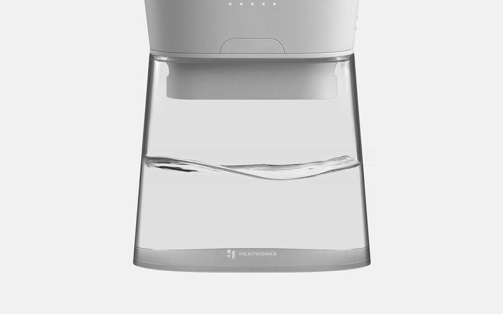 De Duo Carafe levert direct en energiezuinig water van de gewenste temperatuur. beeld Heatworks