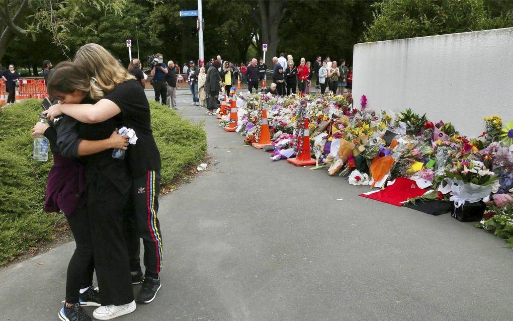 De plaats van de aanslag in Christchurch.beeld AFP, David Moir