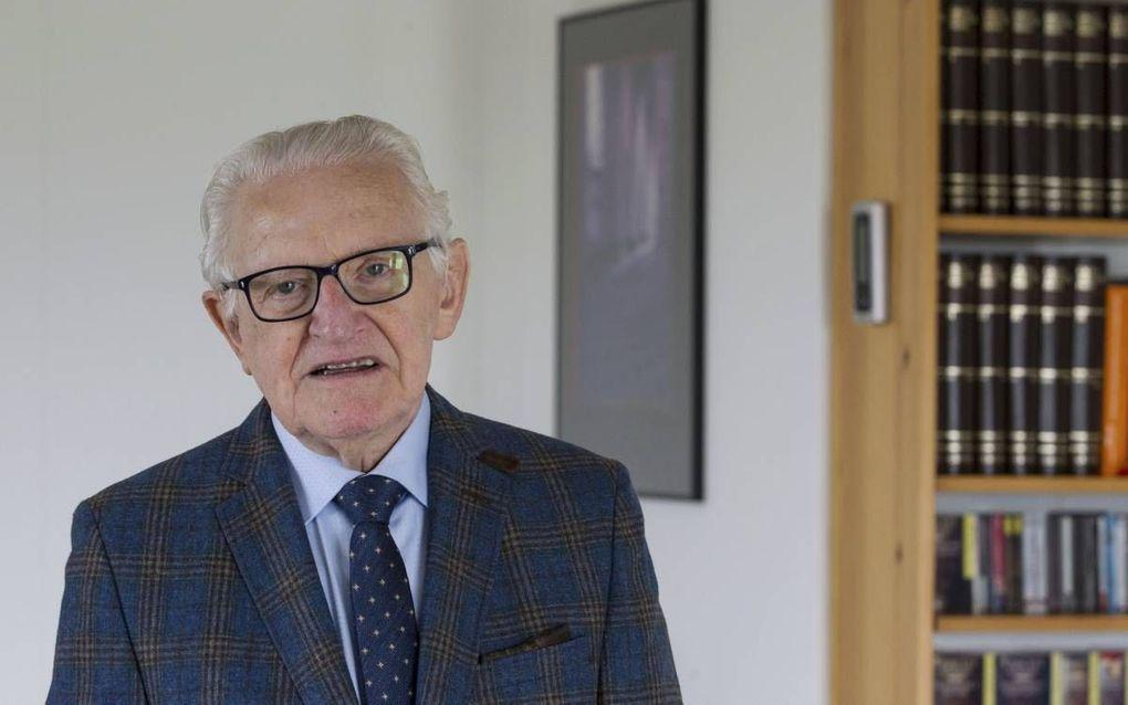 Met zijn autobiografie zette prof. J. Douma een punt achter zijn publicitaire arbeid. beeld Anton Dommerholt