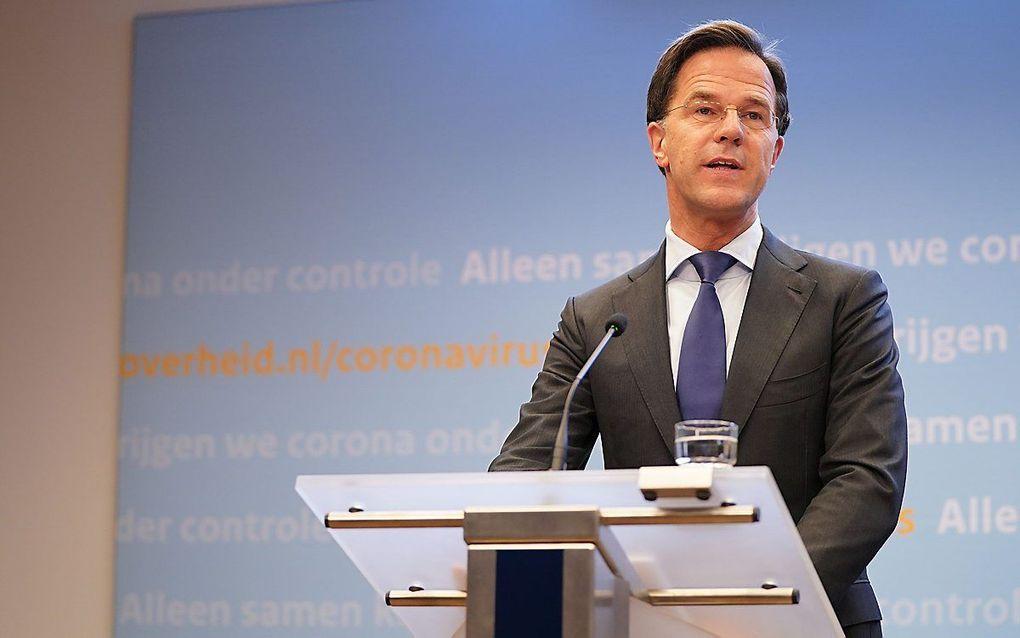 Premier Rutte, beeld ANP, Bart Maat.