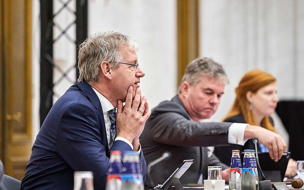 Minister Slob maandagmiddag tijdens het Kamerdebat over het burgerschapsonderwijs. beeld ANP, Phil Nijhuis