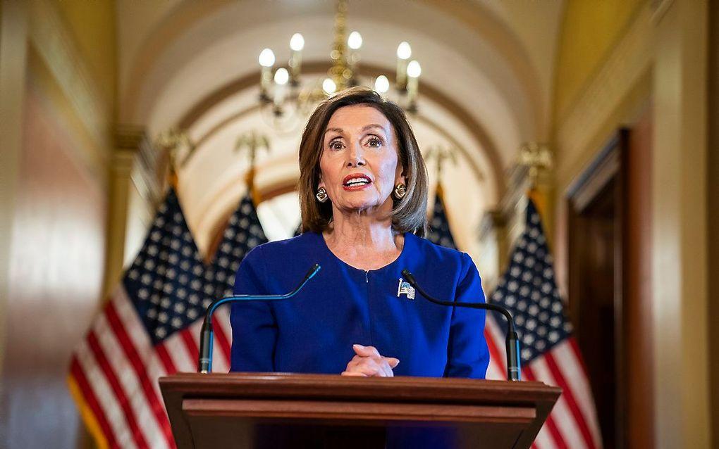 De Democratische voorzitter van het Amerikaanse Huis van Afgevaardigden, Nancy Pelosi, kondigde dinsdag aan dat het Huis een officieel onderzoek is gestart naar de mogelijkheden om te komen tot een afzettingsprocedure tegen president Donald Trump.beeld A