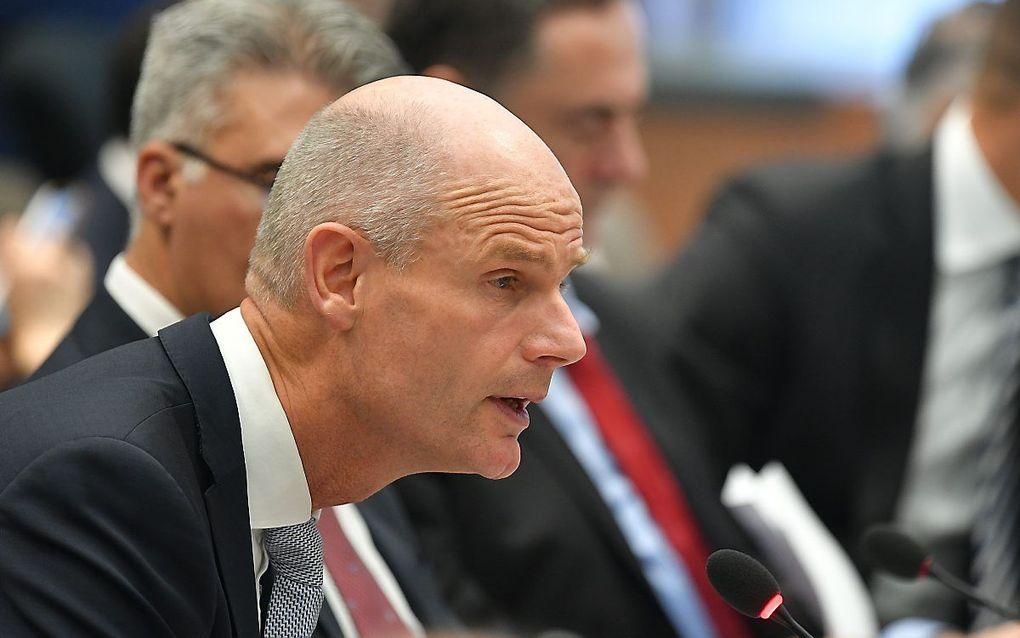 Minister Stef Blok tijdens een bijeenkomst over religieuze vrijheid in Washington, 19 juli. beeld AFP, Mandel Ngan