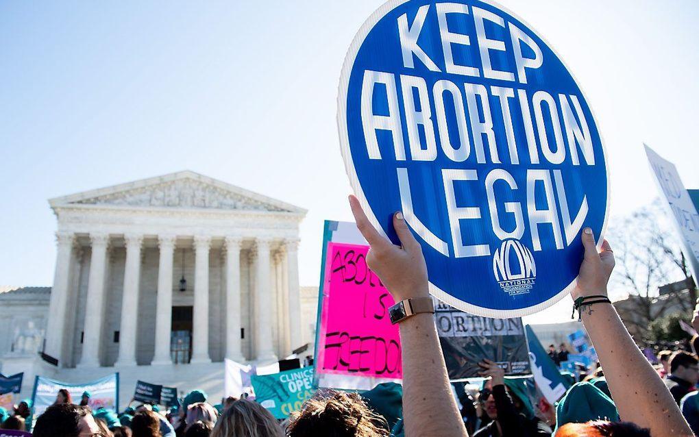Rechter VS: Corona mag niet als argument worden gebruikt om geen abortussen uit te voeren. beeld AFP