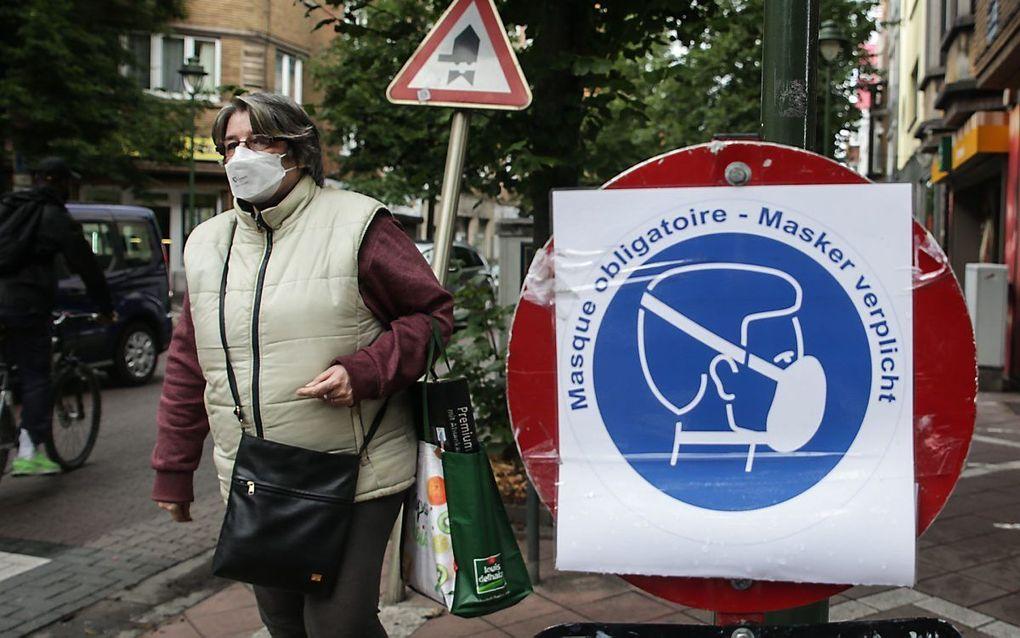 Straatbeeld in Brussel, 10 juli. beeld AFP, Aris Oikonomou