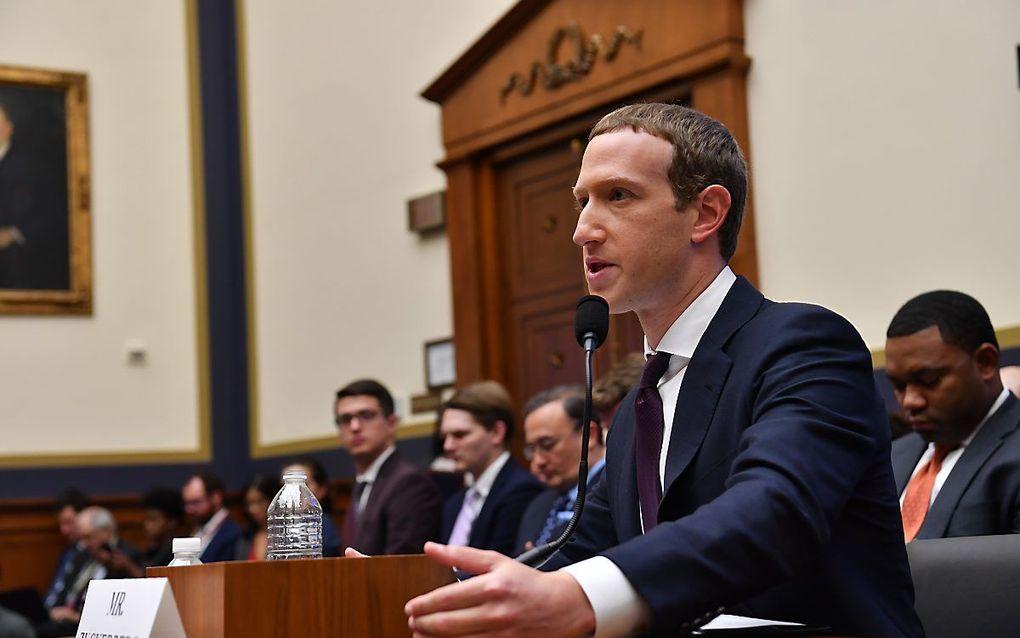 Topman Mark Zuckerberg van Facebook. beeld AFP
