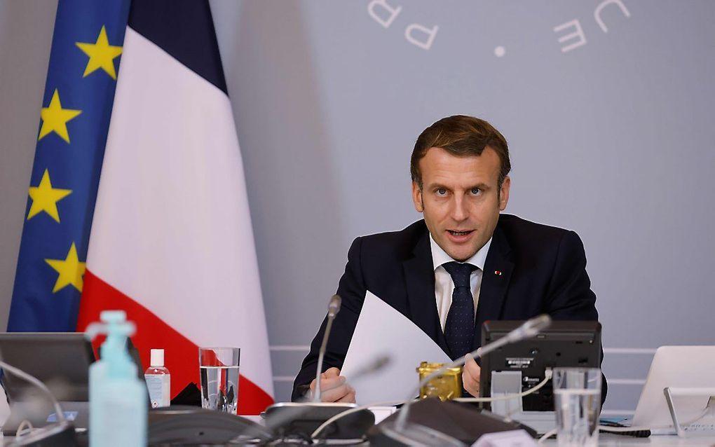 De Franse president Emmanuel Macron. beeld AFP, Ludovic Marin
