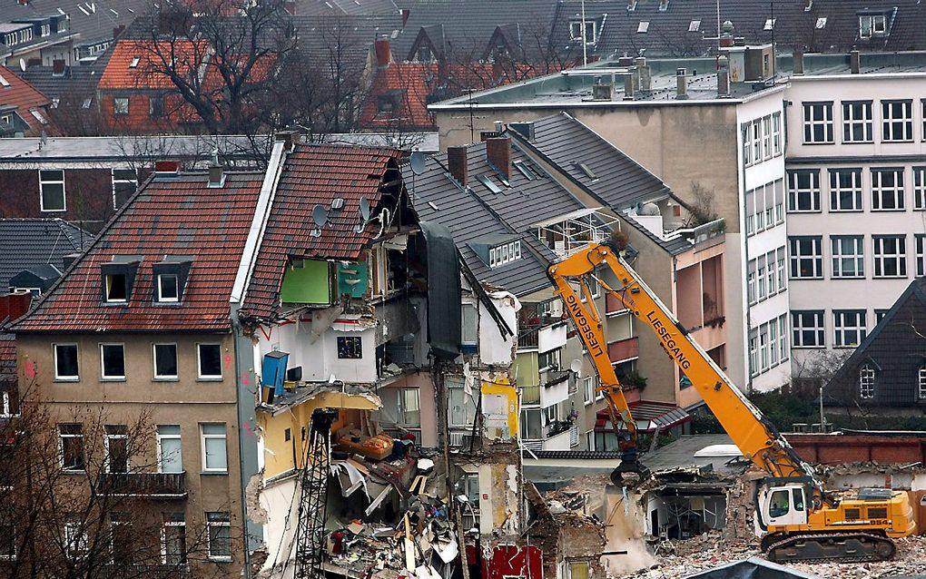 Het stadsarchief in Keulen, kort na de instorting in 2009. beeld AFP
