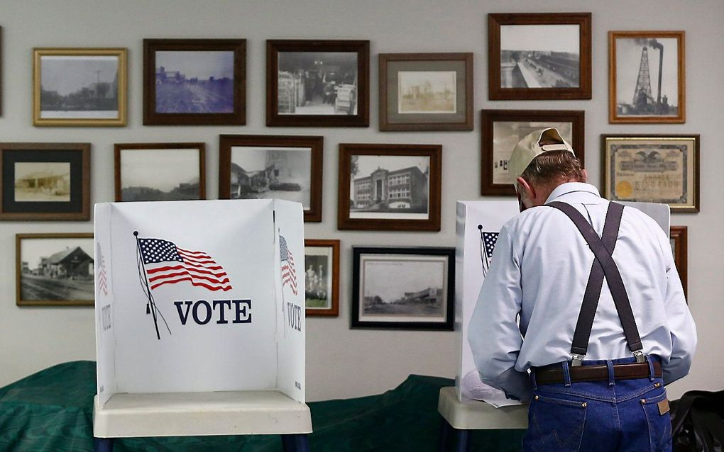Miljoenen volwassen Amerikanen willen of kunnen hun stem niet uitbrengen. beeld EPA, LARRY W. SMITH