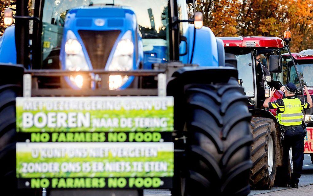 Boerenprotest in oktober 2019. beeld ANP, Koen van Weel