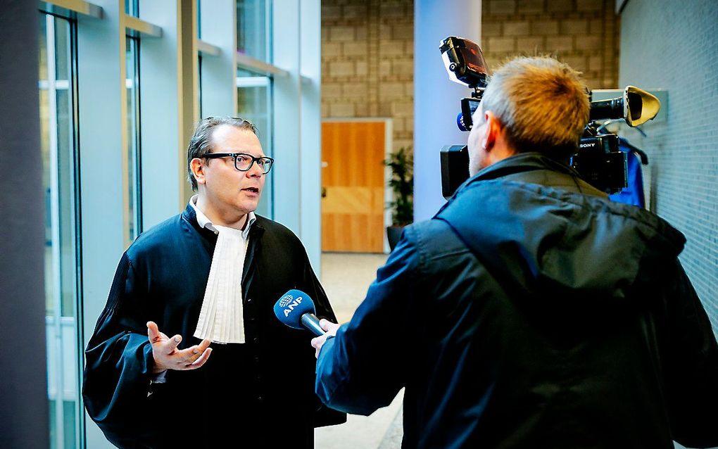 Advocaat Andre Seebregts, raadsman van de vrouwelijke Syriegangers, na de uitspraak van de voorzieningenrechter over het terughalen van IS-vrouwen en hun kinderen vanuit Noord-Syrie naar Nederland. beeld ANP