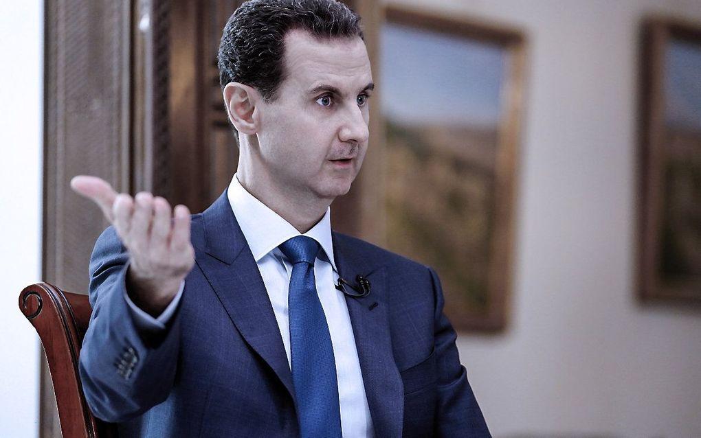 De Syrische president Bashar al-Assad. beeld EPA