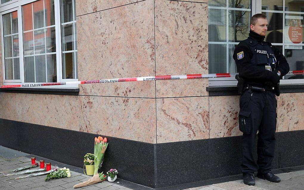 Bij twee schietpartijen in het Duitse Hanau zijn elf doden gevallen. Vreemdelingenhaat was een motief van de dader. beeld EPA