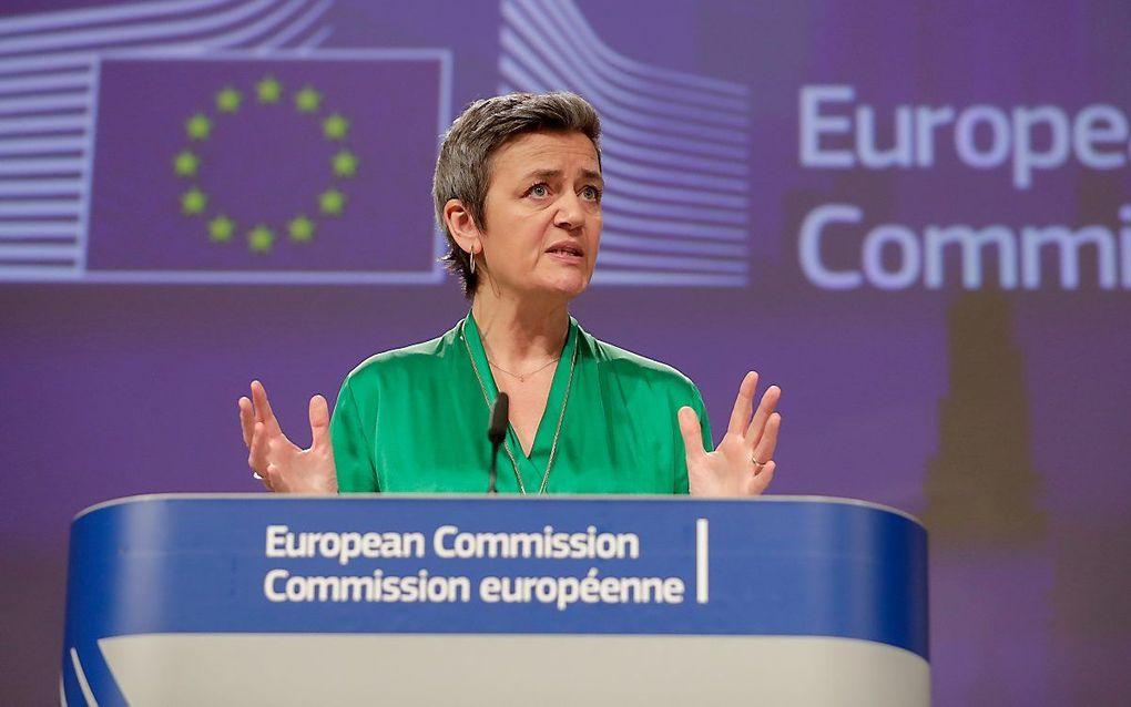 Margrethe Vestager, vicevoorzitter van de Europese Commissie. beeld EPA, Stephanie Lecocq