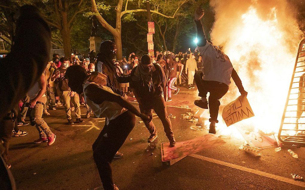 Protest in de buurt van het Witte Huis. beeld AFP