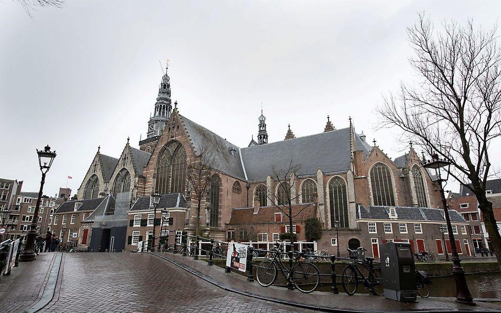 Restauratie toren Oude Kerk Amsterdam