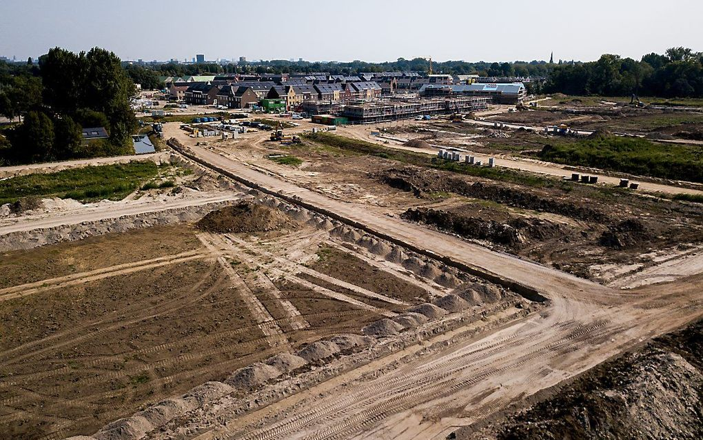 Woonwijk in aanbouw in Vleuten, provincie Utrecht. beeld ANP, Sem van der Wal.
